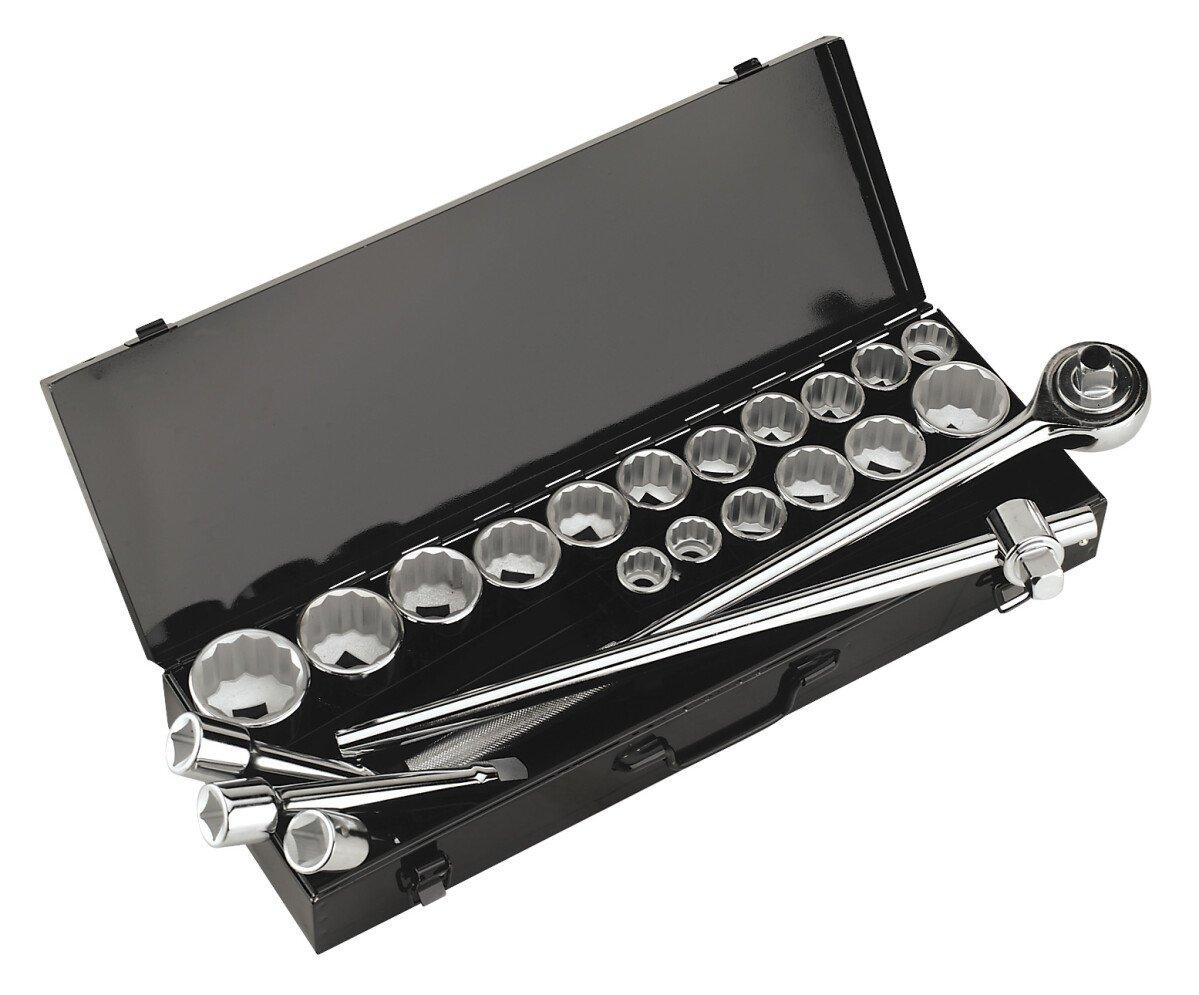 """Sealey AK259/CRV Socket Set 22 Piece 3/4"""" Drive MM/AF"""
