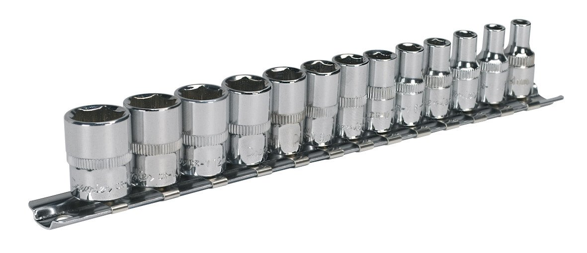 "Sealey AK2691 Socket Set 13 Piece 1/4"" Drive WallDrive Metric"
