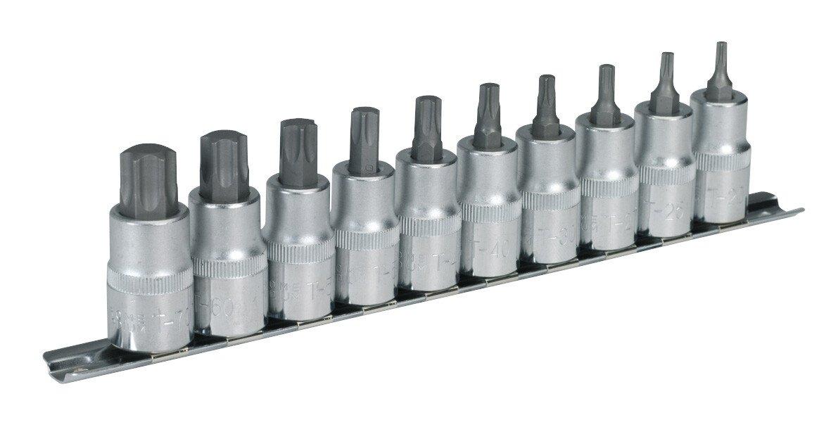 """Sealey AK6208 TRX-Star ( Torx type) Socket Bit Set 1/2"""" Drive 10 Piece"""