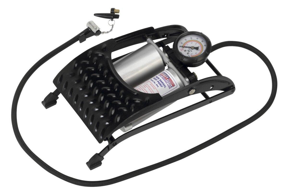 Sealey FP4 Foot Pump Twin Barrel