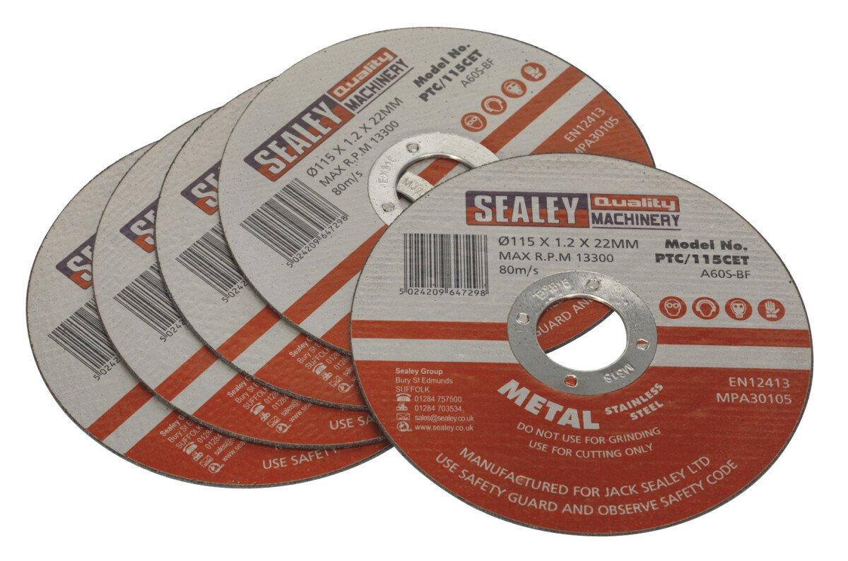 Sealey PTC//125CET Cutting Disc /Ø125 x 1.2mm 22mm Bore