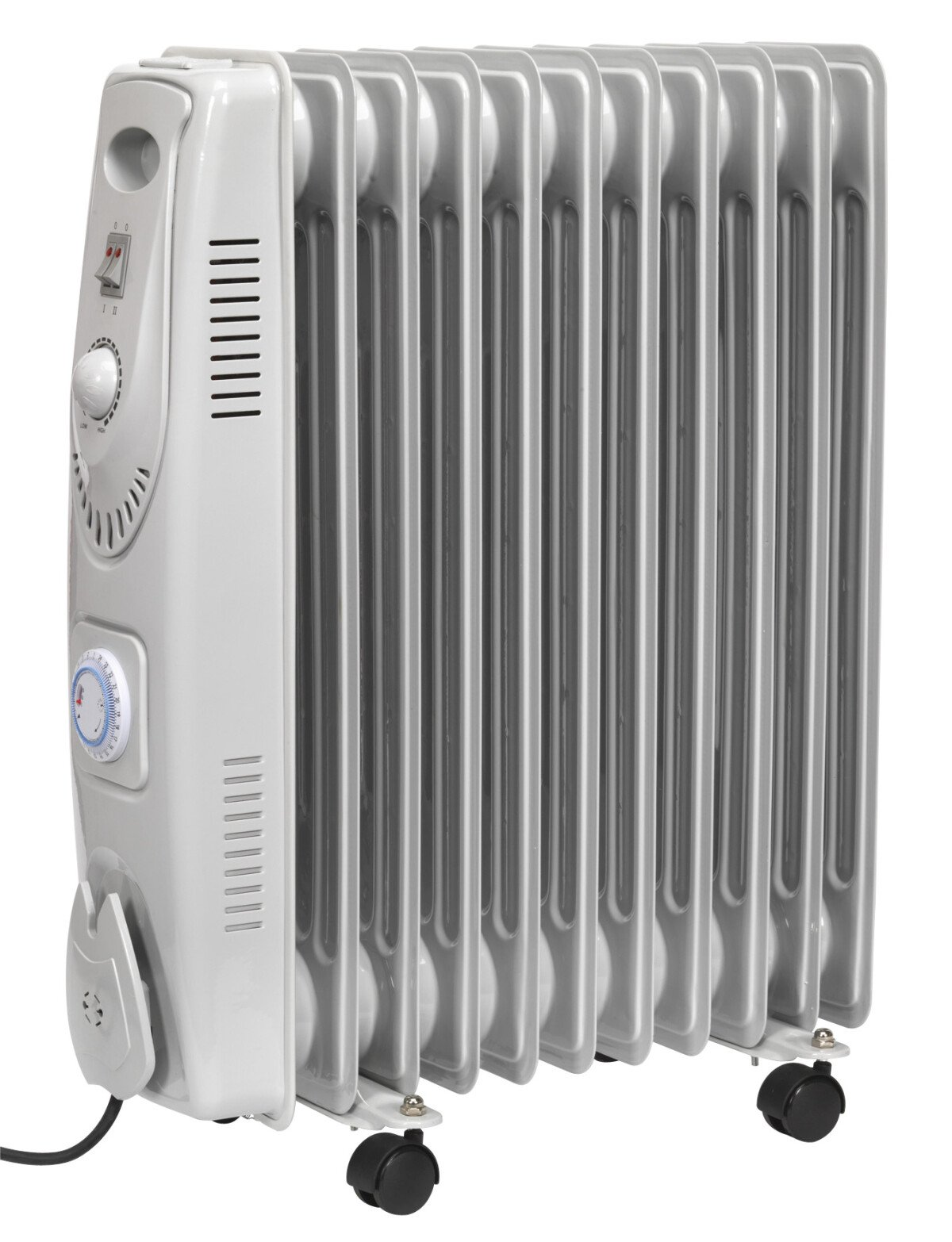 Sealey RD2500T Oil Filled Radiator 2500W/230V 11 Element with Timer