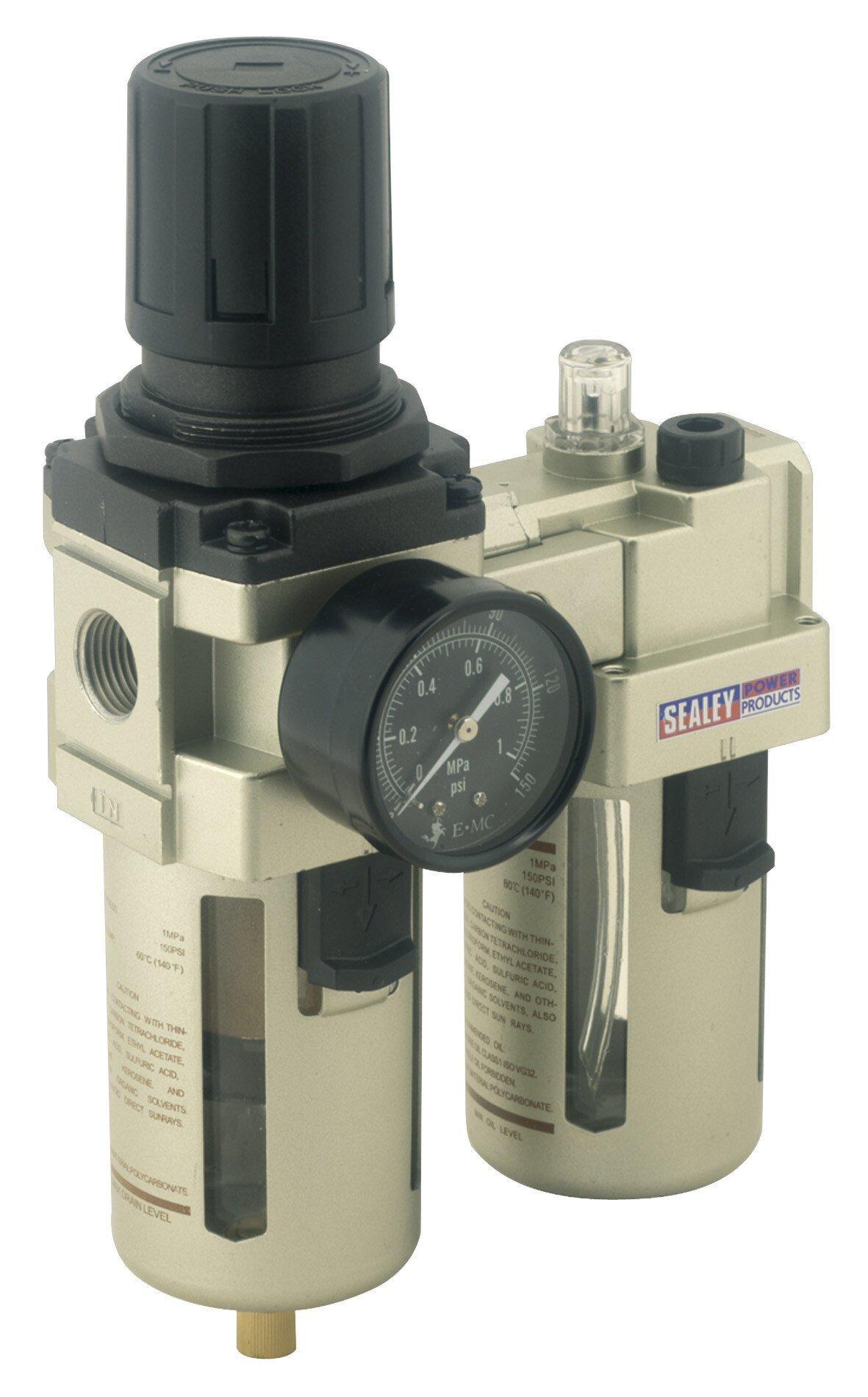 Sealey SA206 Air Filter/Regulator/Lubricator Max Air Flow 105cfm