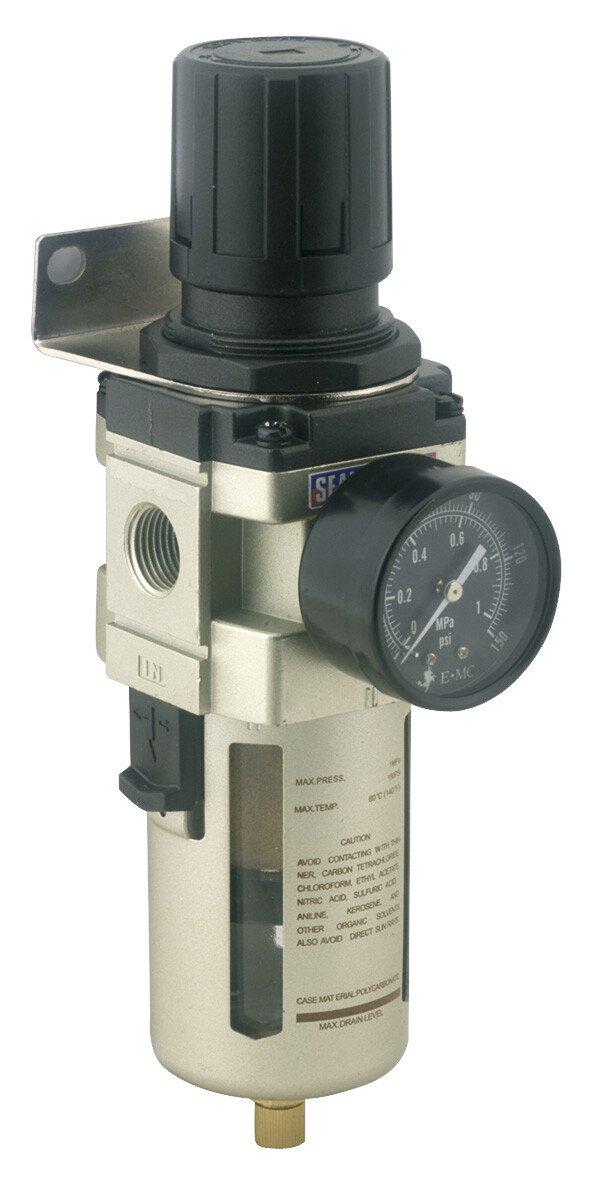 Sealey SA206FR Air Filter/Regulator Max Air Flow 140cfm