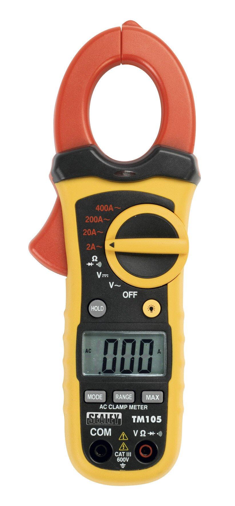 Sealey TM105 Professional Auto Ranging Digital Clamp Meter NCVD - 6 Function