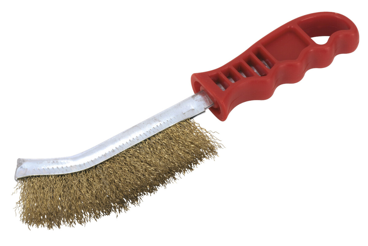 Sealey Wb05 R Wire Brush Brassed Steel Plastic Handle From