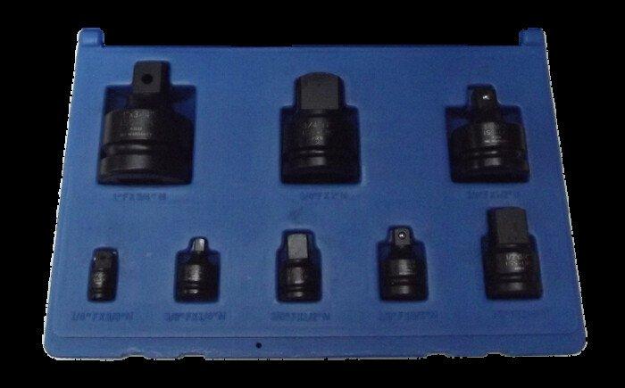 ISS SETADAPT8 8 Piece Impact Adaptor Set