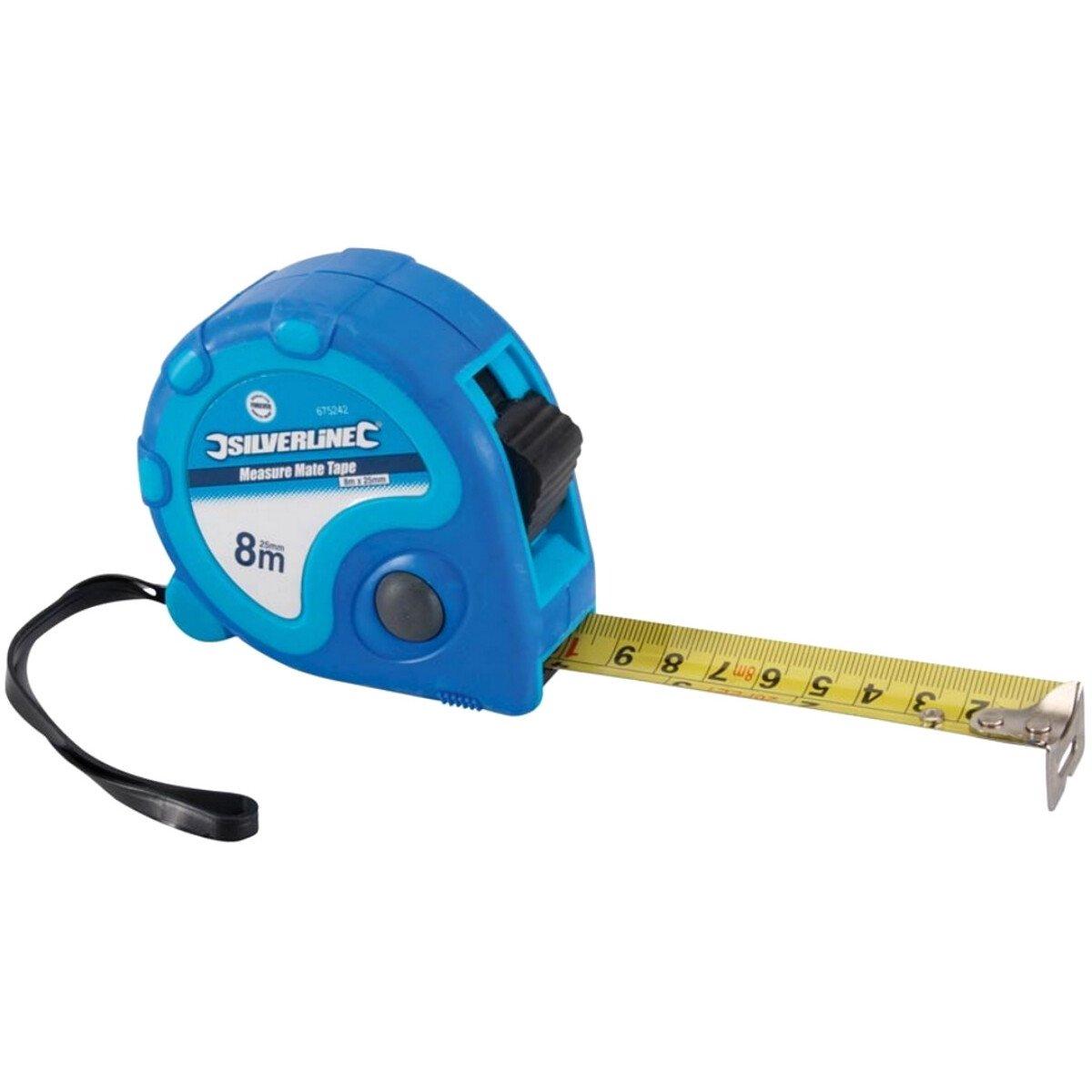 Silverline 675126 Measure Mate - 8m (26¼ft) Tape Measure