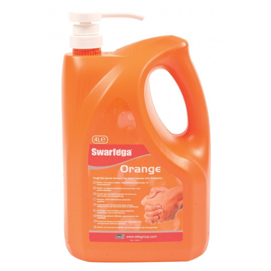Deb SOR4LMP Swarfega® Orange Hand Cleanser - 4 Litre Pump Bottle
