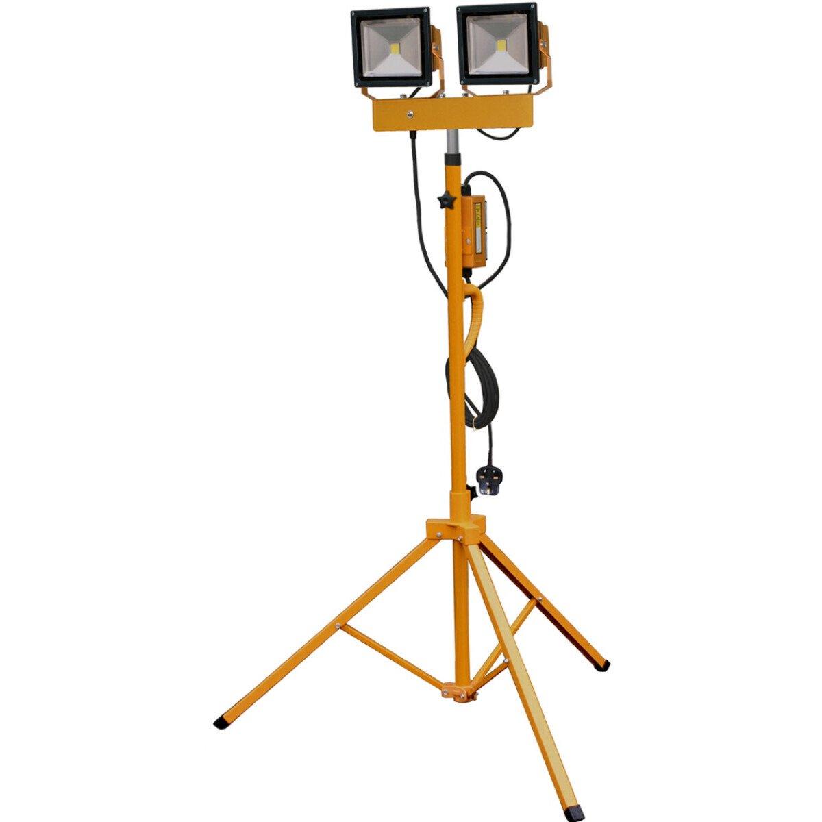 Spectre SP-17187 230V HD Twin 30W COB LED Floodlight Work Light