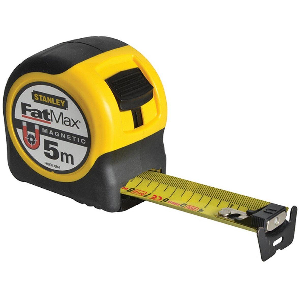 Stanley FMHT0-33864 FatMax Magnetic BladeArmor Tape 5m (Width 31.7mm) STA033864