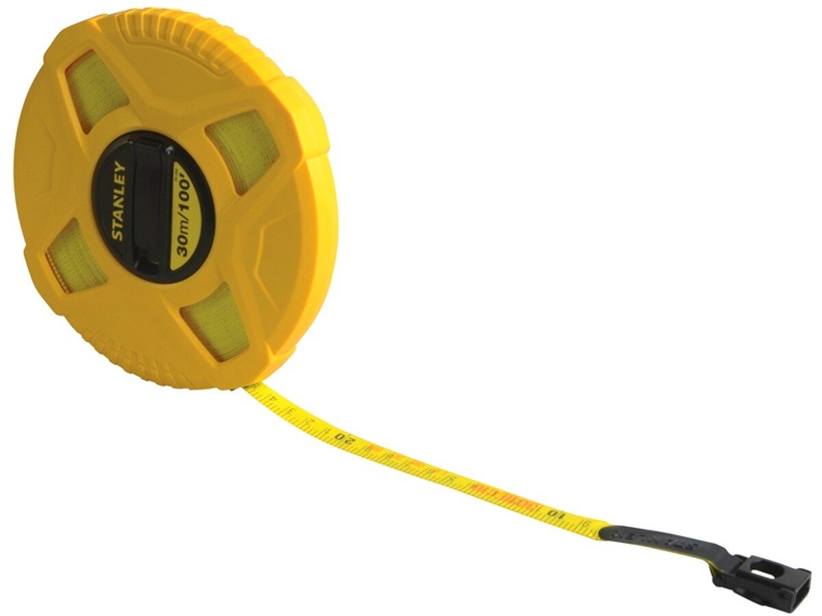 Stanley 0-34-262 Closed Case Fibreglass Tape Measure 30m / 100ft STA034262