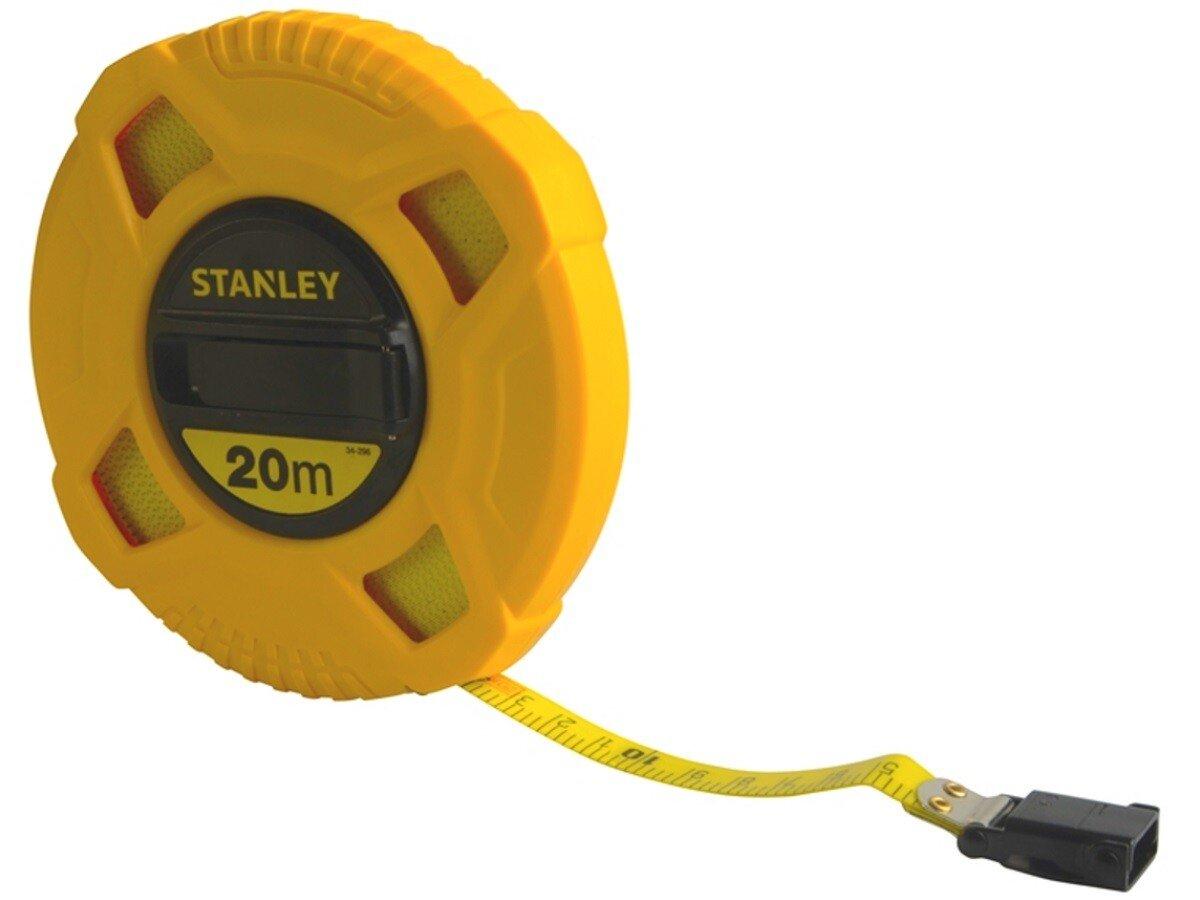 Stanley 0-34-296 Closed Case Fibreglass Tape Measure 20m STA034296