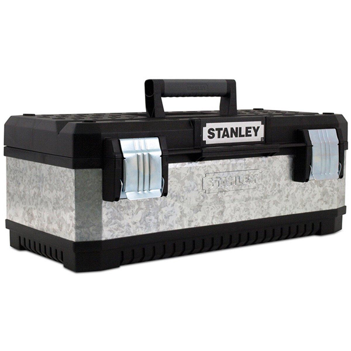 Stanley 1-95-618 Galvanised Metal Toolbox 50cm (20in approx) STA195618