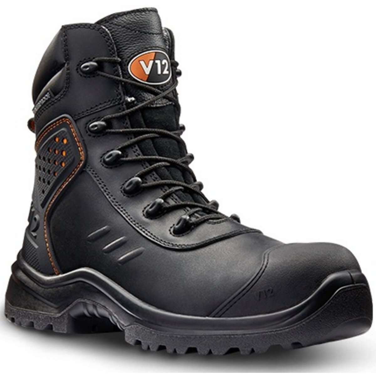 V12 Footwear V1750 Defender STS SRC S3 Metal Free Black Safety Boot