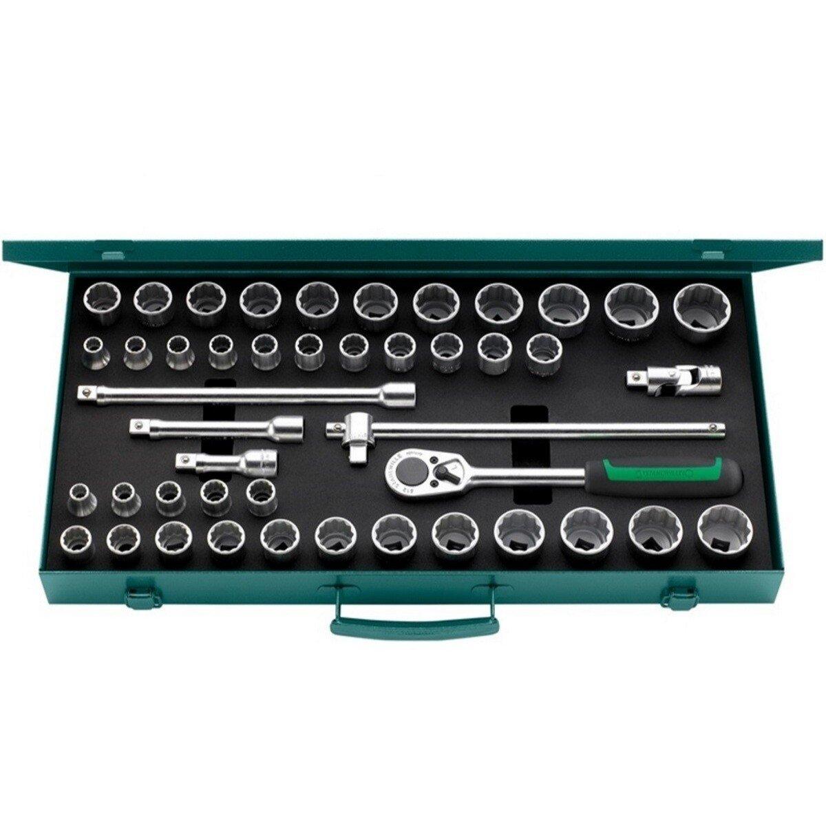 """Stahlwille 50MA396N Socket Set 1/2"""" Drive Bi-Hexagon 45 Piece AF / Metric STW50MA396N"""