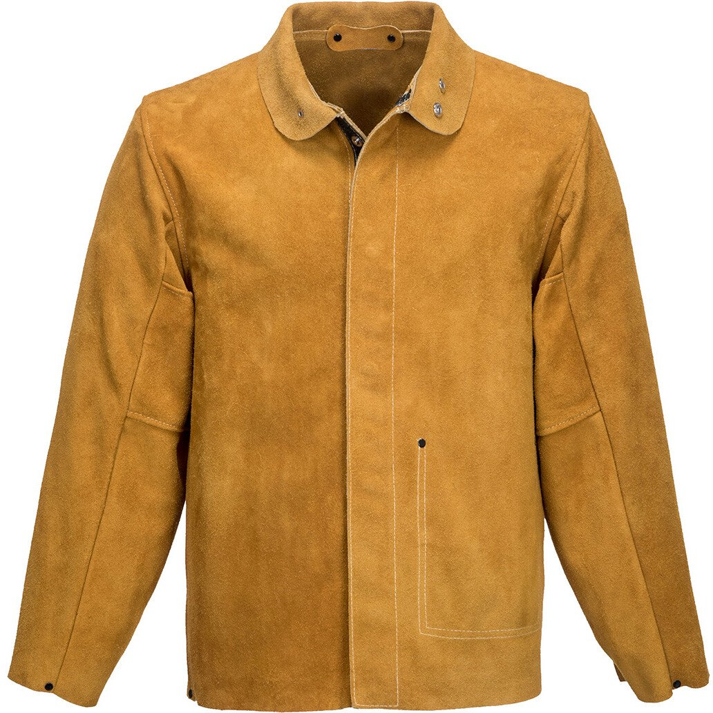 Portwest SW34 Leather Welding Jacket - Flame Resistant