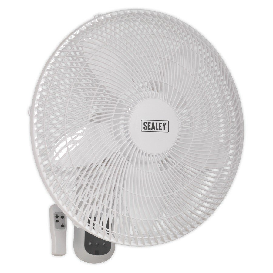 "Sealey SWF18WR Wall Fan 3-Speed 18"" with Remote Control 230V"