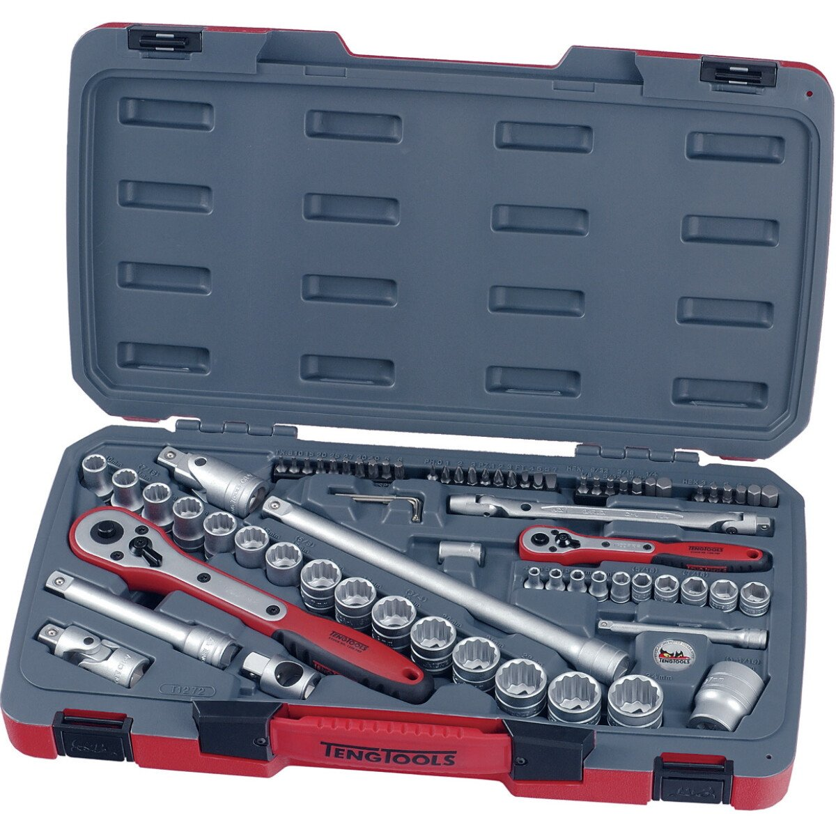 "Teng Tools T1272 72 Piece 1/4"" and 1/2"" Drive Metric Socket Set"