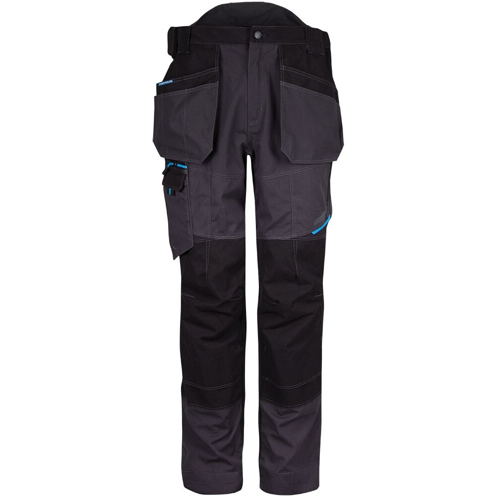 """Portwest T702 WX3 Workwear WX3 Holster Trouser - Regular Leg 31"""" or Adjustable to Tall 33"""" - Available in Metal Grey & Persian Blue"""