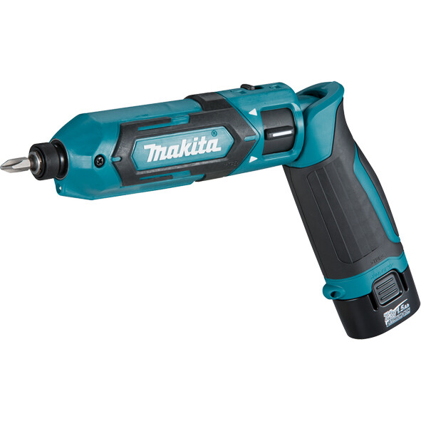 Makita TD022DSE 7.2V Pencil Impact Driver with 2x Batteries, Battery Charger, Phillips Bit, Drill Holster and Carry Case