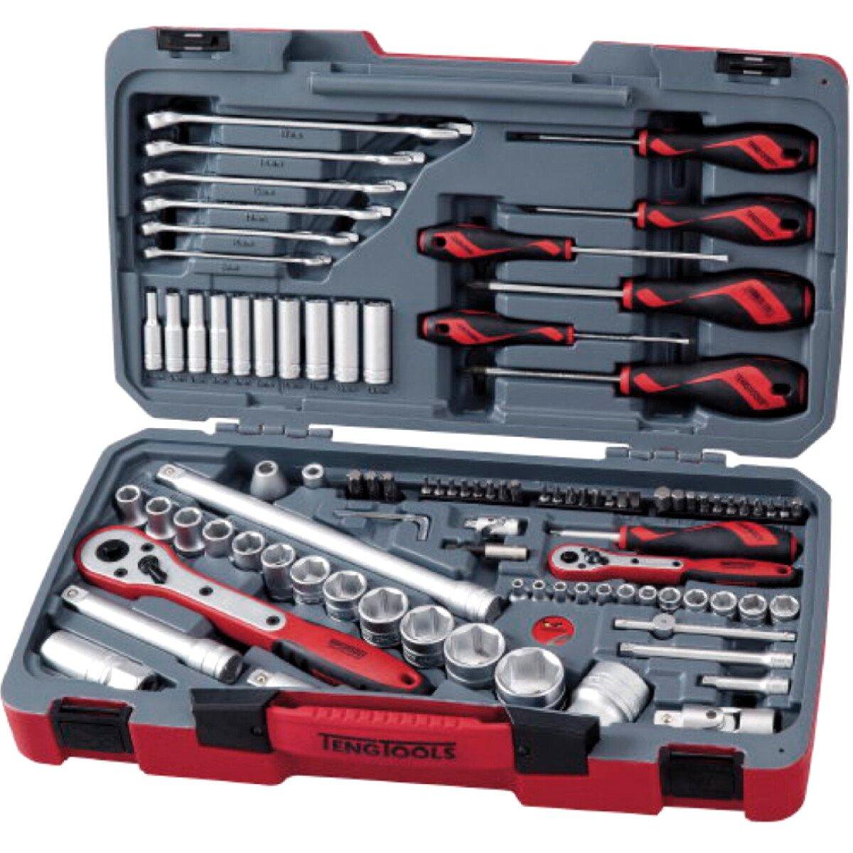 """Teng Tools TM095 95 Piece 1/4"""" and 1/2"""" Drive Tool Set"""