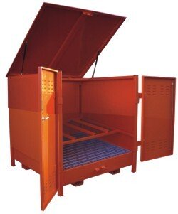 Top-Tec AMDH2D (Previously A-HD2-D) 2 x 235 Litre Drum Horizontal Outdoor Storage - AMDH2D