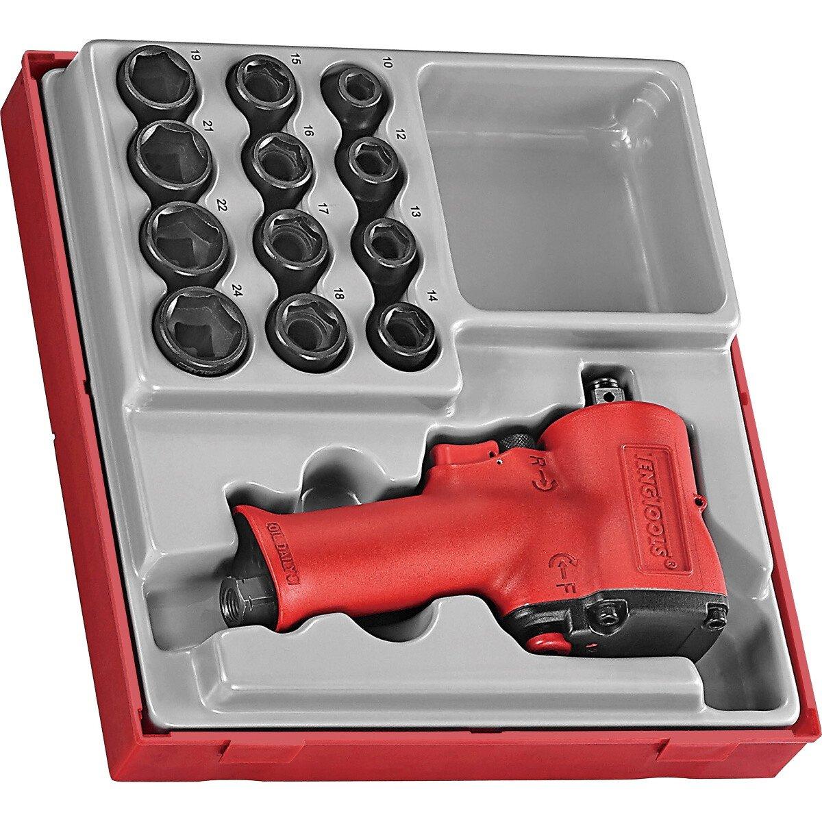 """Teng Tools TTDAWM13M 13 Piece 1/2"""" Drive Mini Impact Socket Set"""