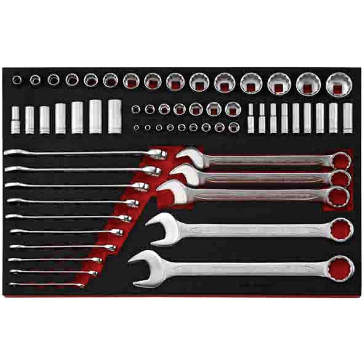 Teng Tools TTEAF62 62 Piece EVA AF Combination Spanner and Socketry Set