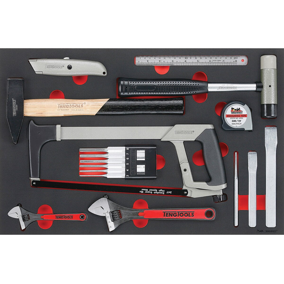 Teng Tools TTEPS12 12 Piece EVA General Service Tool Set