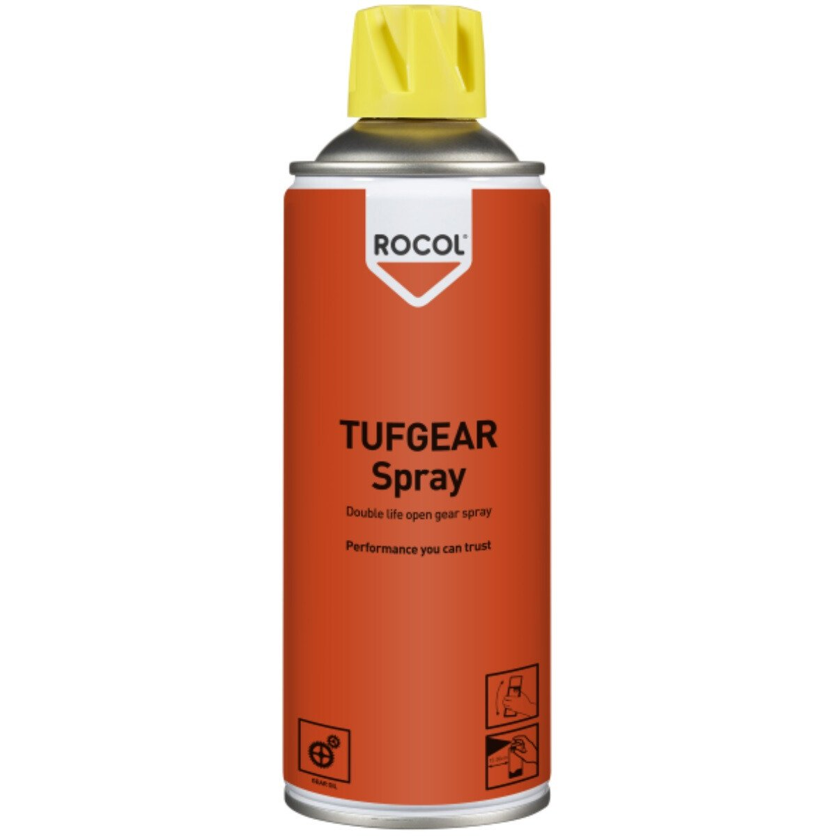 Rocol 18105 TUFGEAR SPRAY Open Gear Spray Lubricant 400ml