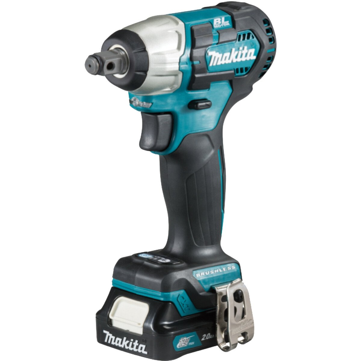 Makita TW161DSAJ 12Vmax Brushless Impact Wrench with 2x CXT BL1021B Batteries, 1x DC10SB Charger & Makpac Type 1 Case