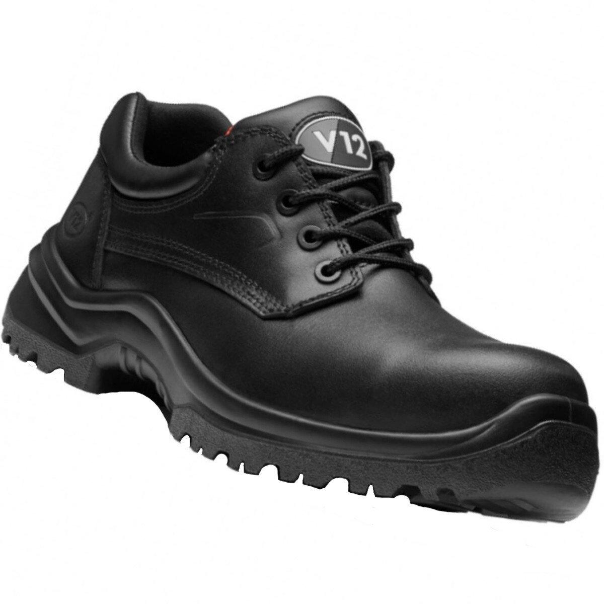 V12 Footwear V6411.01 Oxen Black Metal Free 4 Eyelet Shoe S3 SRC
