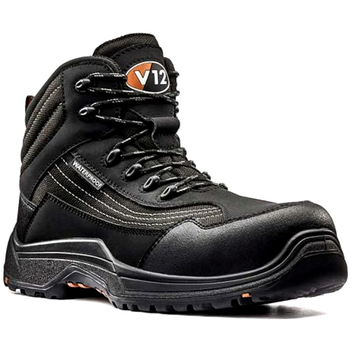 V12 Footwear Caiman V1501.01 Black Metal Free Safety Boot S3 HRO SRC