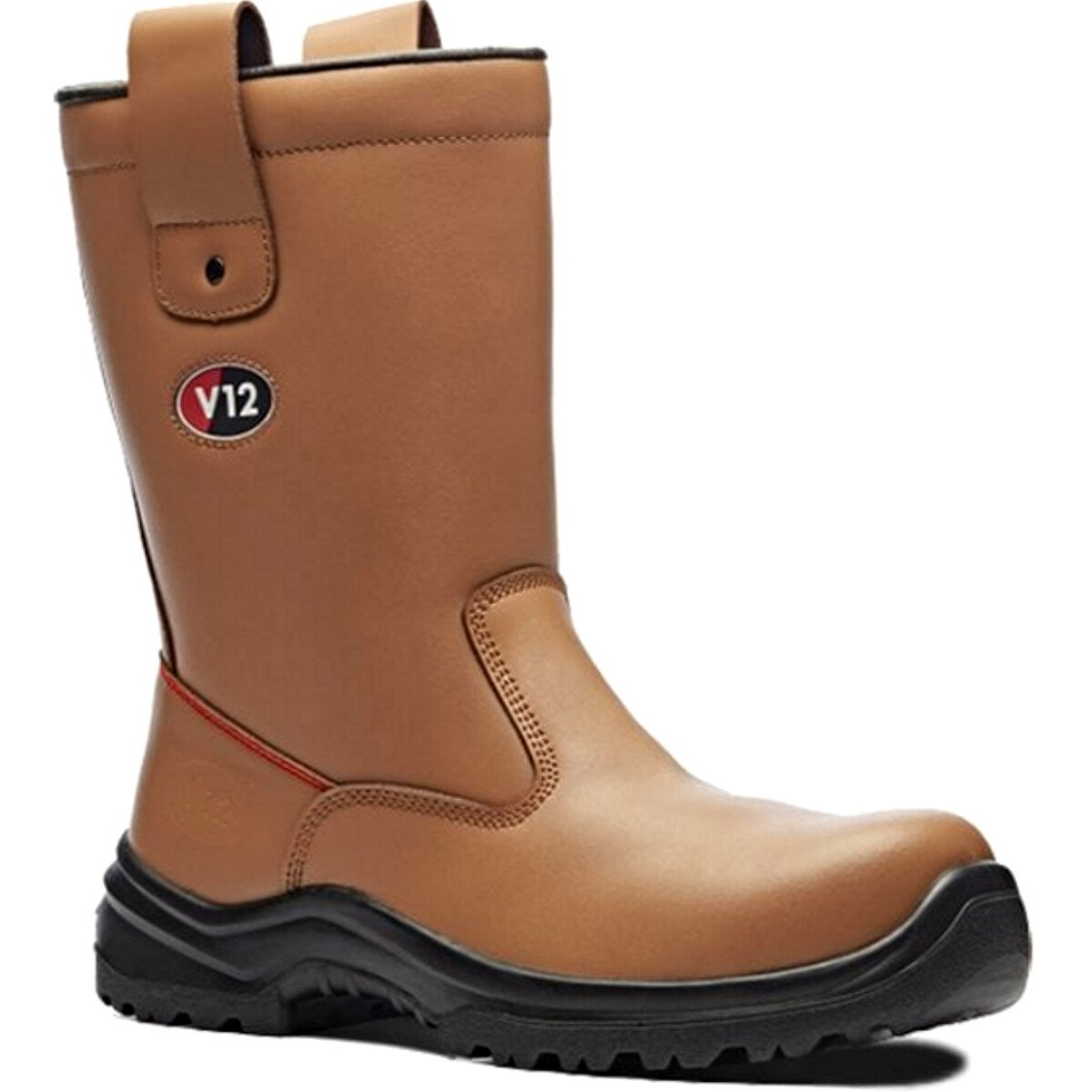 V12 Vtech V6816.01 Polar STS Tan Fur Lined Leather Safety Rigger Boot S1P SRC