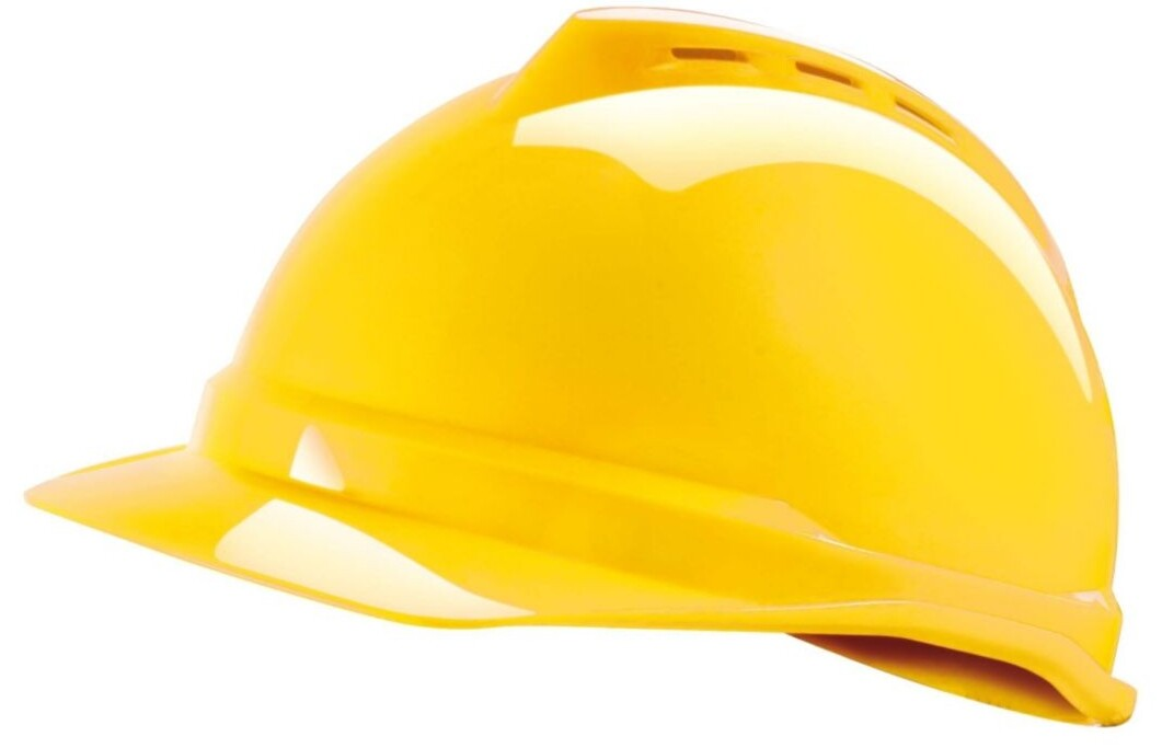 MSA VGard 500 Industrial Safety Helmet (Vented with Fas-Trac suspension) -  Yellow