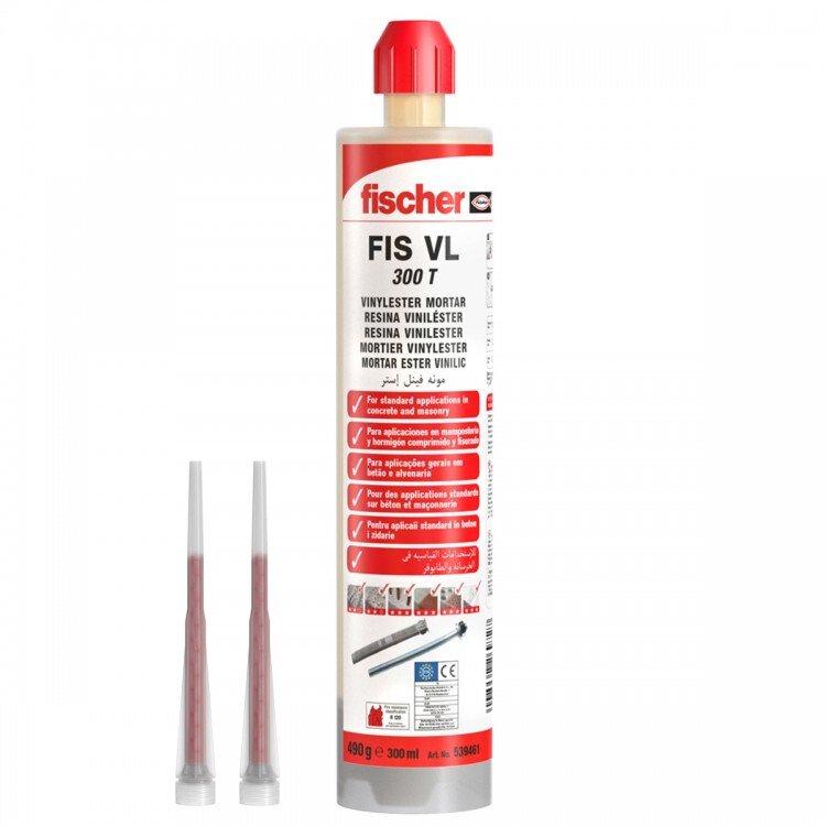 Fischer 539461 FIS VL 300 T Vinylester Mortar Injection Hybrid Resins 300ml