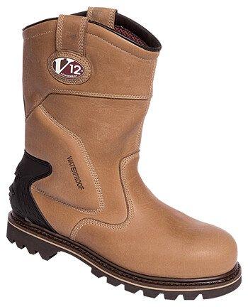 V12 Vtech Tomahawk V1250 EN345 Vintage Leather Waterproof Rigger