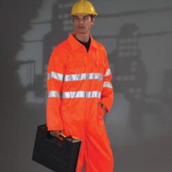 Yoko HV058/3M Hi-Vis Poly Cotton Coverall HV058/3M
