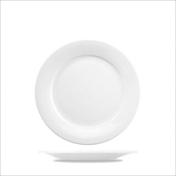 "Churchill ZCA PO6 1 Art De Cuisine 6.11/16""/17.1cm White Porcelain Mid-Rim Plate"