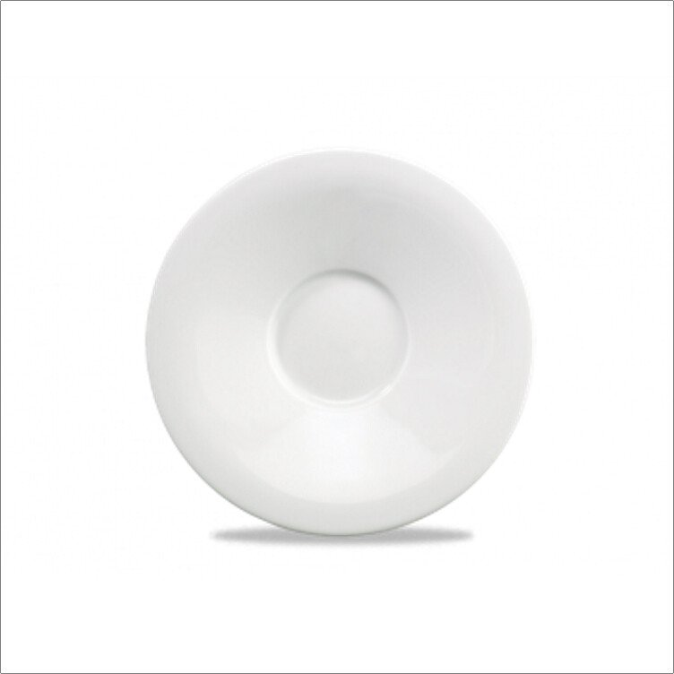 Churchill ZCA POS61 Art De Cuisine White Porcelain Broad Rimmed Tea Saucer