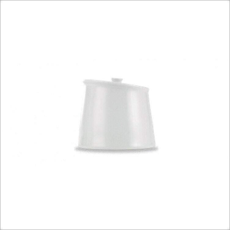 Churchill ZCA POSB1 Art De Cuisine White Porcelain Lidded Sugar Bowl