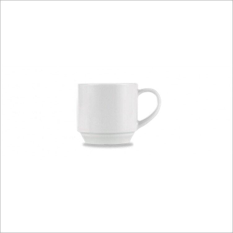 Churchill ZCA POST1 Art De Cuisine White Porcelain Stacking Tea/Coffee Cup