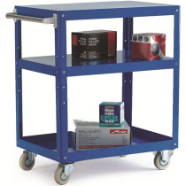 GPC TI346Y Reversible Metal Tray and Shelf Trolley