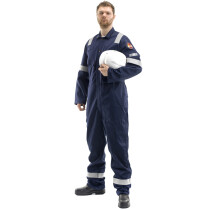"""Roots 18R-N 60"""" Flamebuster Anti-Static Nordic Coverall (Antistatic) - Navy Blue - 60"""""""