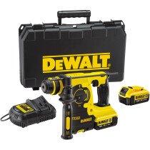 DeWalt DCH253M2 18V XR 3-Function SDS+ Hammer with 2x 4.0Ah Batteries in Carry Case