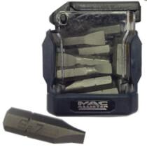 Macallister 3601006 [CL] 20-Piece Mixed 25mm Slotted Screwdriver Bit Set (5x5.5mm, 10x6.5mm & 5x7mm)