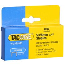 Tacwise 0334 53/6mm Heavy Duty Staples (Box of 2000)