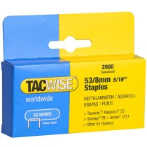 Tacwise 0335 53/8mm Staples Galvanised (Box of 2000)