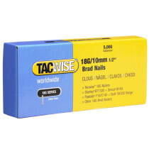 Tacwise 0392 18G/10mm Brad Nails Galvanised (Box of 5000)